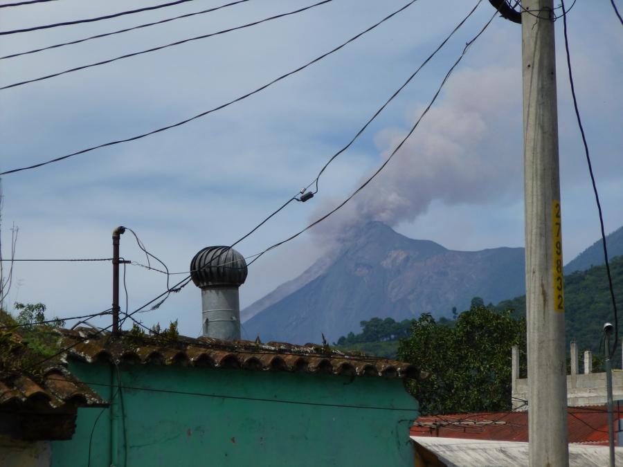 One of the Volcanoes Was Active When I Got to Antigua
