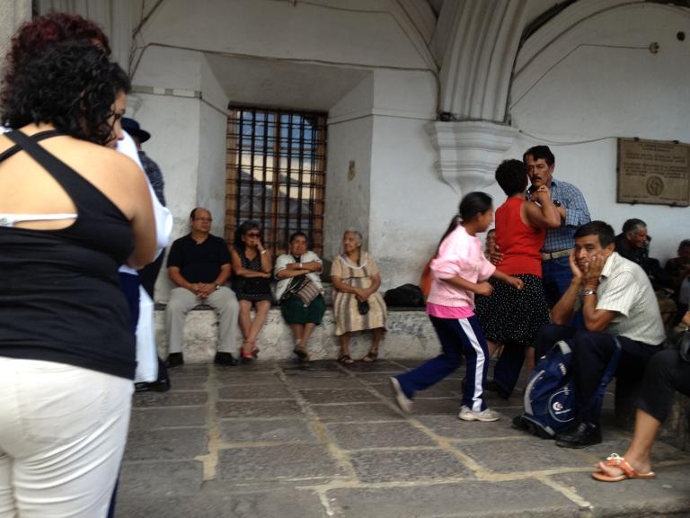 Dancing in Antigua's Plaza Mayor - A Favorite Weekend Pastime