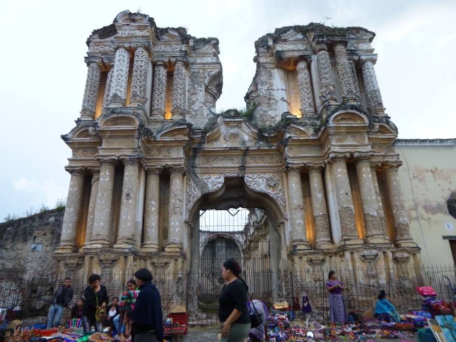The Ruins of Santa Carmen Church After Three Earthquakes in Antigua