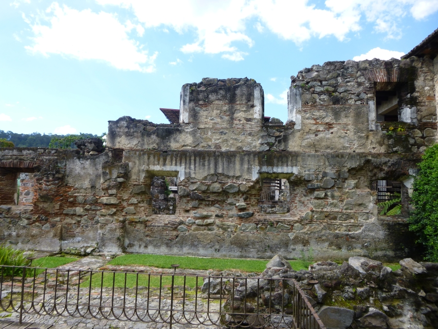 Ruins inside the Casa de Santo Domingo Courtyard