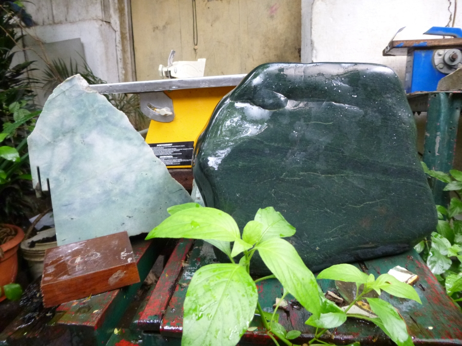 Polished and Unpolished Jade Pieces