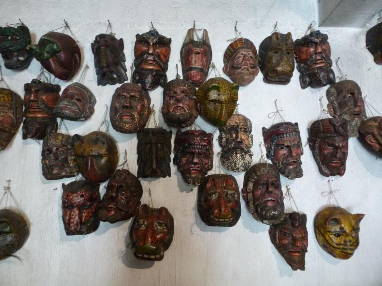 Mayan Masks with 50 Year Old Eye Balls