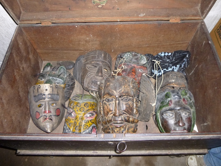 Mayan Masks with 50 Year Old Eye Balls (Stored Lovingly In A Hidden Box)