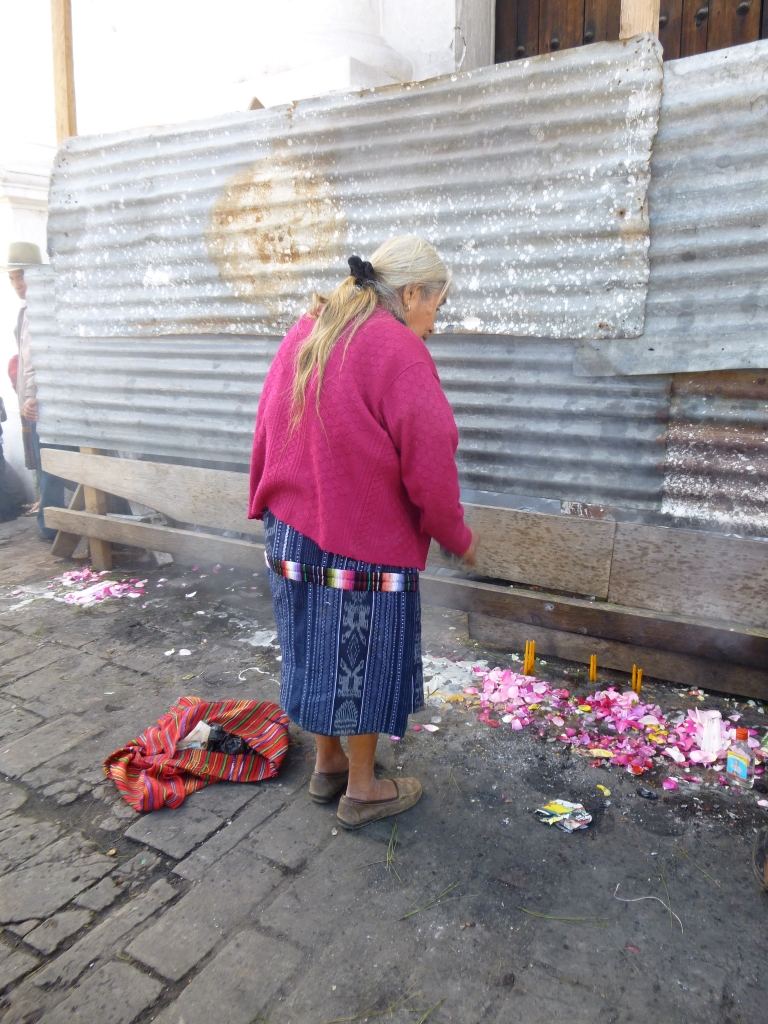 A Lady Performing Her Mayan Ritual
