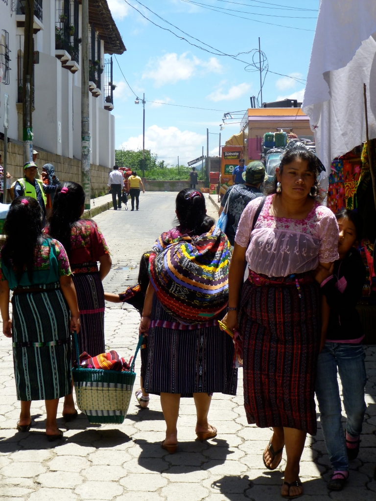 Ladies in Traditional Outfits in Chichicastenango