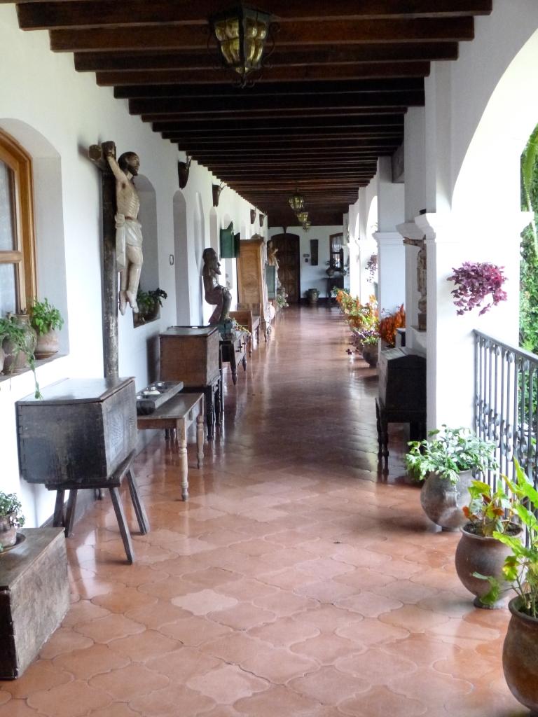 Beautifully Decorated Hallway of Hotel San Tomas