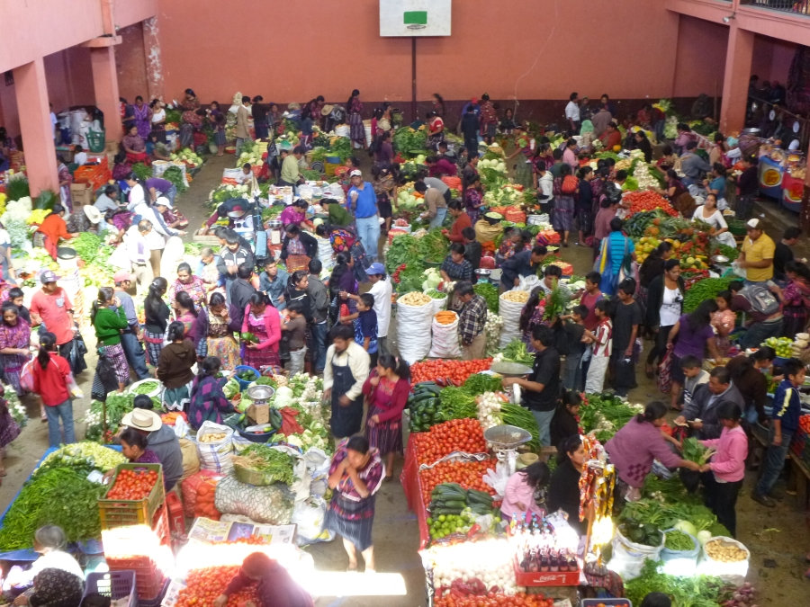 Chichicastenango Vegetable Markets in A School Building