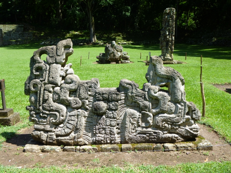 Another Example of Beautiful Carvings in Copan