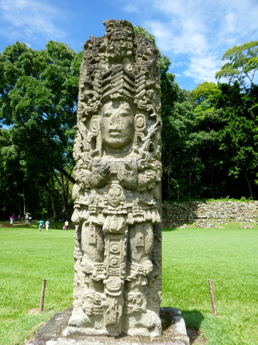 Stelae of one of the Copan Kings