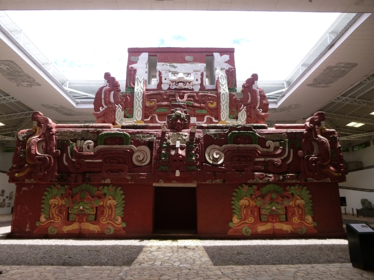 Reproduction of the Rosalila Temple in the Copan Museum