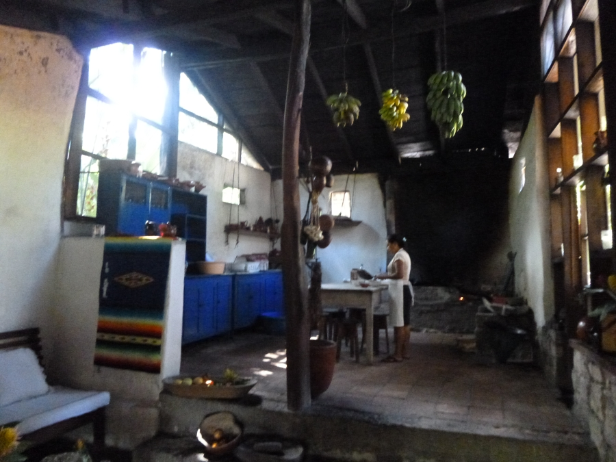 Cosy Kitchen of Hacienda San Lucas. Their Restaurant Is Famous, But Was Closed On The Day of My Visit