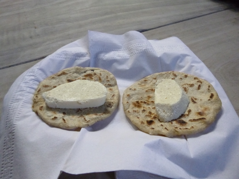 Tortilla and Local Cheese at Hacienda San Lucas