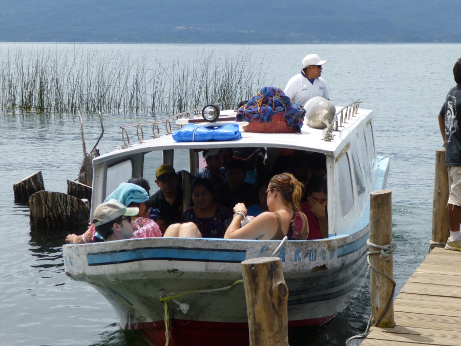 Another Public Lancha Carrying Tourists Between The Towns Along Lake Atitlan