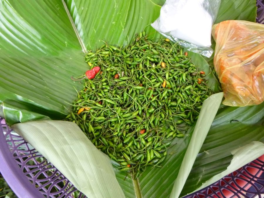 Chilli Padi (Small, Very Spicy Chili) in Santiago Market