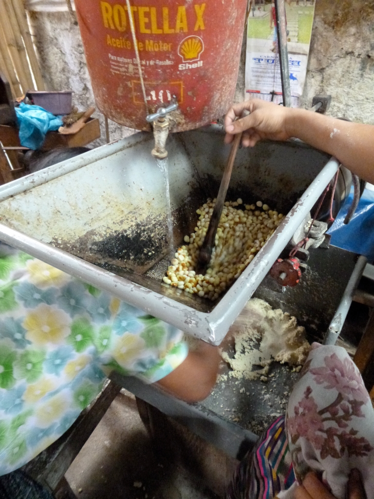 A Family Making Corn Tortilla - From