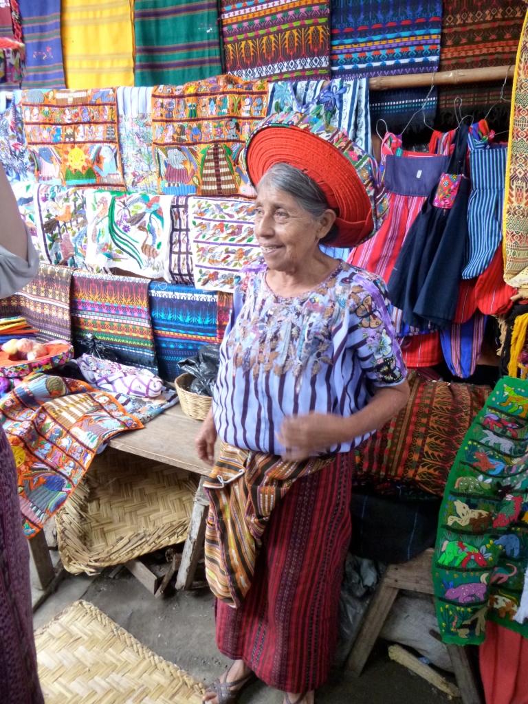 The Beautiful Mayan Lady with Her Beautiful Huipil