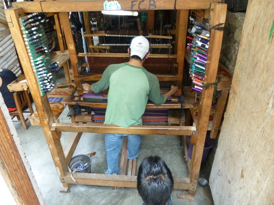 Weaving Is Another Major Business in Guatemala