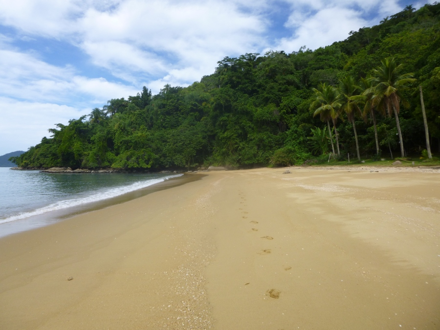 Beach on One of The Habited Island on Paraty Bay