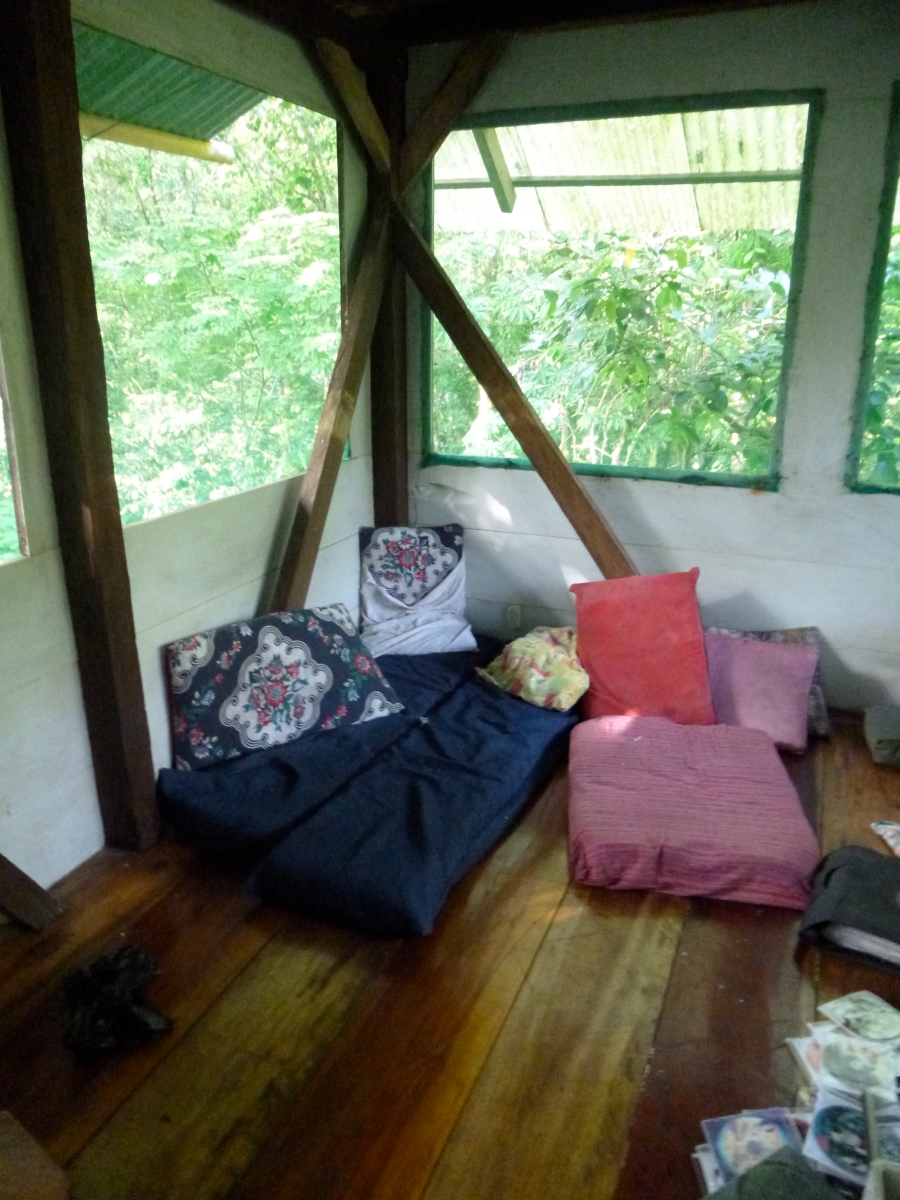 Inside of The Tree House At Finca Tatin