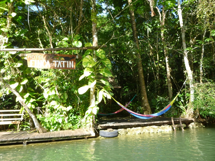 The Initial View of Finca Tatin From The Boat - Hammock For A Nap