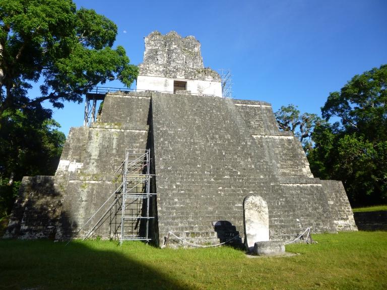 Tikal Temple II in Gran Plaza