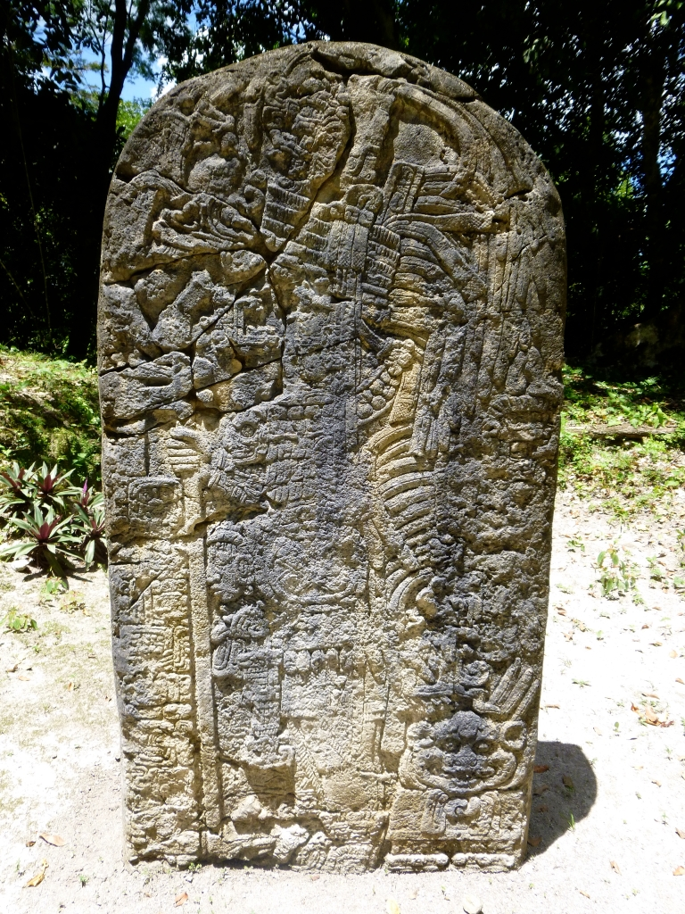 Stelae 20 in Complex P in Tikal (Less Visited Area)