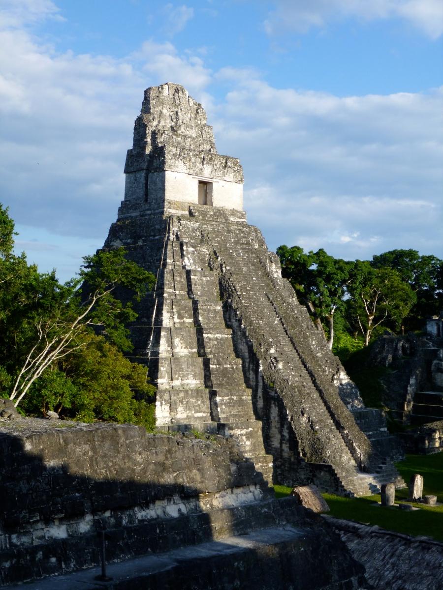 Tikal Temple 1 - Temple of the Great Jaguar - Approaching Sunset