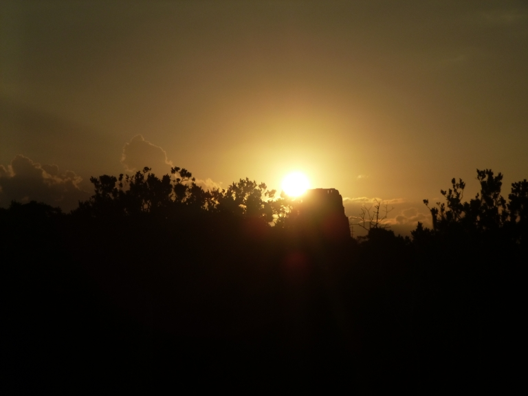 Sunset in Tikal - Behind Temple IV