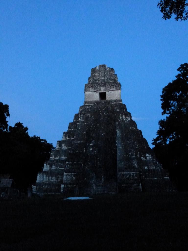 Tikal Temple 1 - Temple of the Great Jaguar - At Dusk