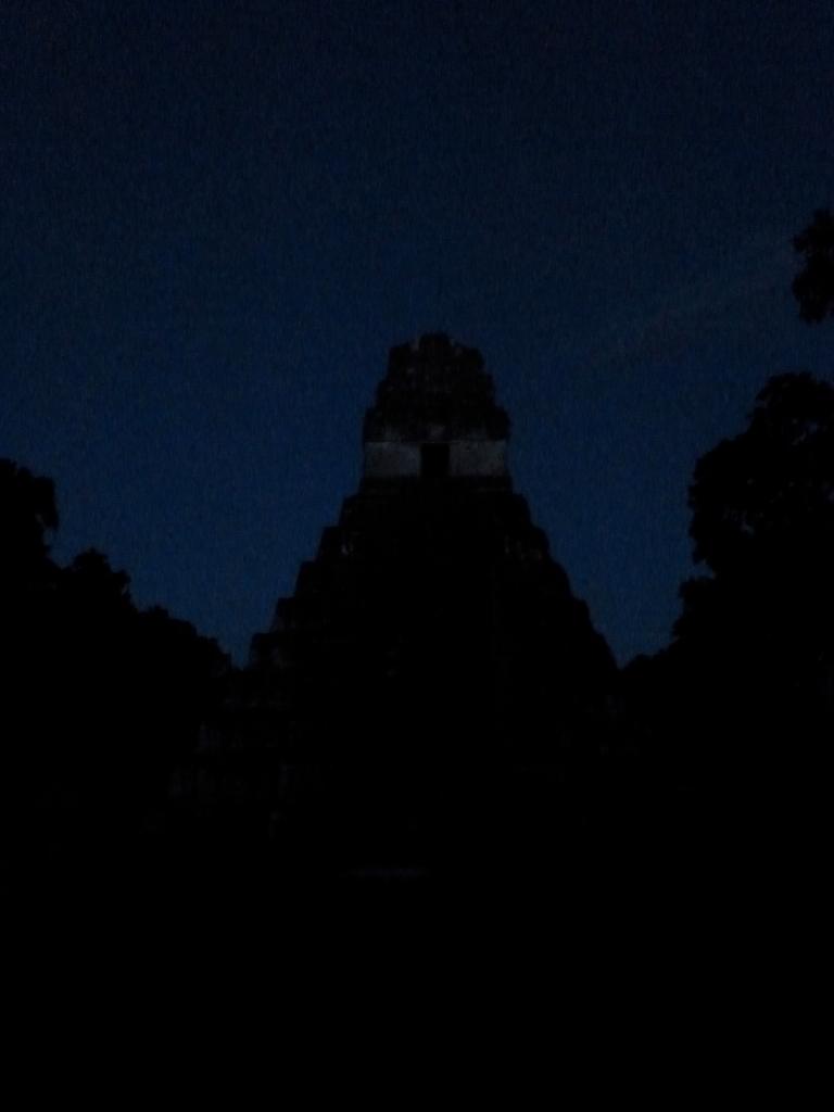 Tikal Temple 1 - Temple of the Great Jaguar - At Night