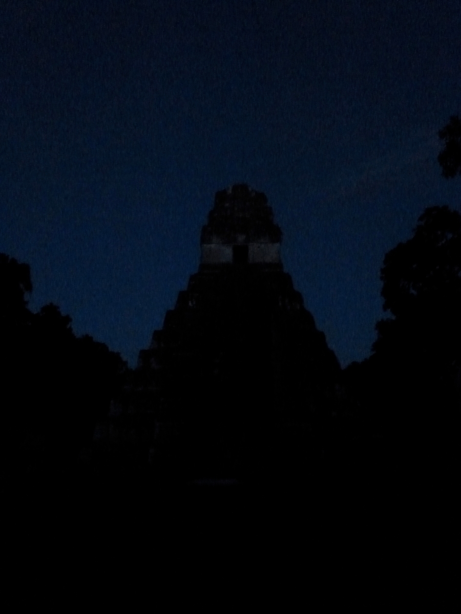 Tikal Temple 1 - Temple of the Great Jaguar - At Night
