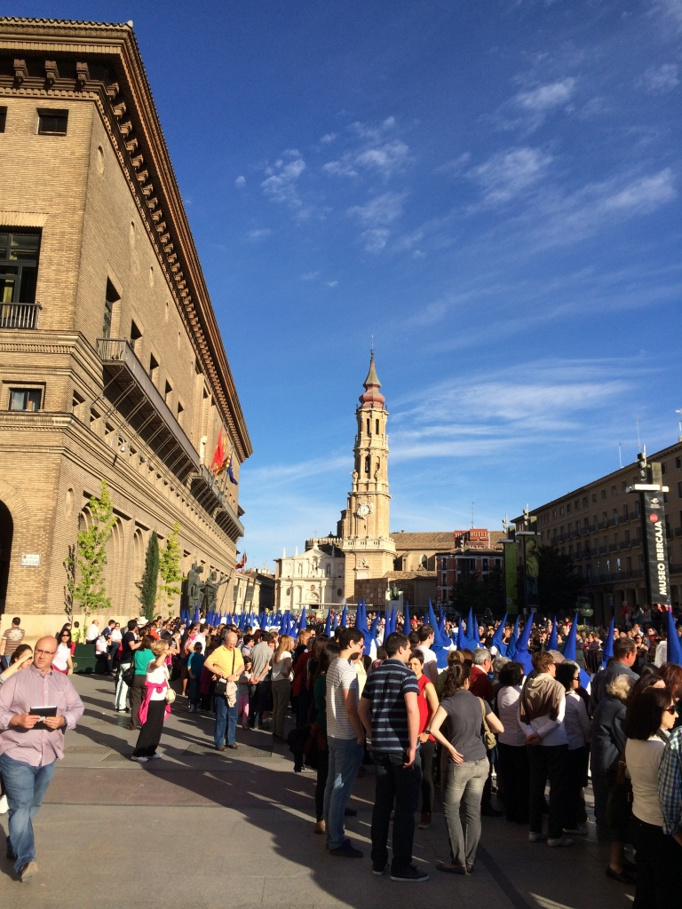 Plaza del Pilar During Viernes Santo Procession