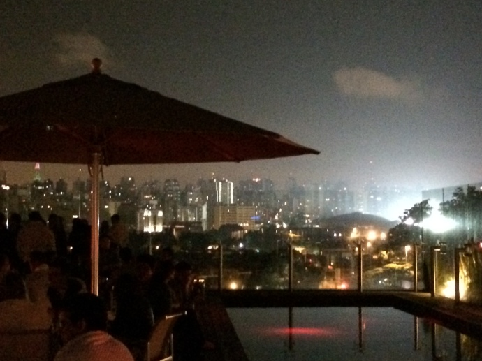 View of Paulista From the Sky Bar of Unique Hotel