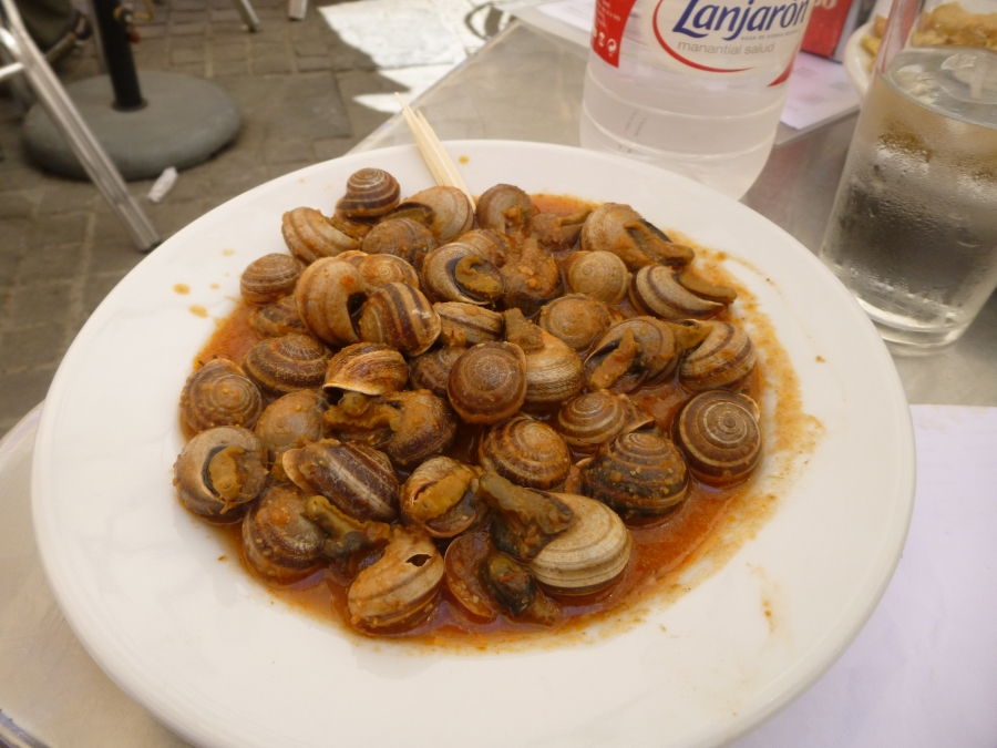 Snails in Tomato Sauce at Bar Bistec (since 1932) in Triana neighborhood, Sevilla