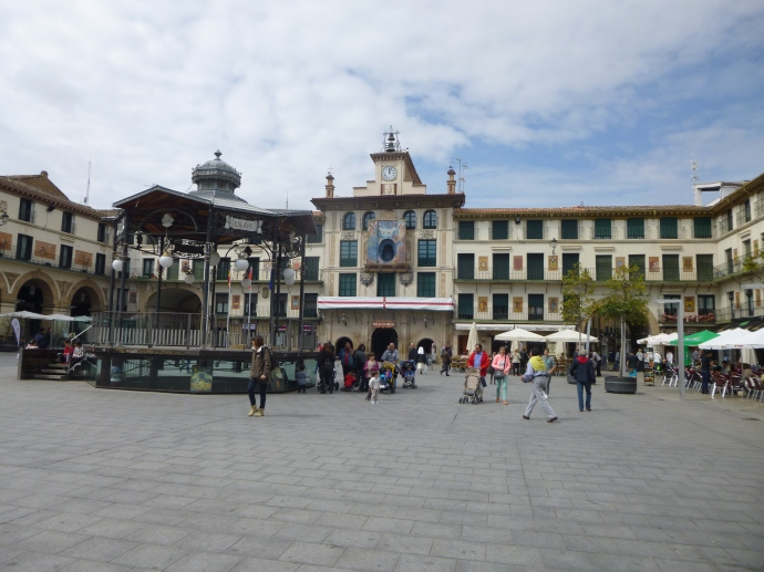 Tudela Main Square - The Gazebo Is Where The Virgin Meets The Angel