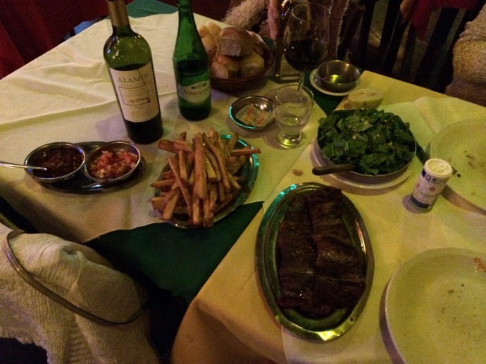 Our Dinner Spread at El Primo