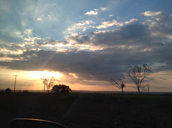 Dusk in Paraguayan Countryside