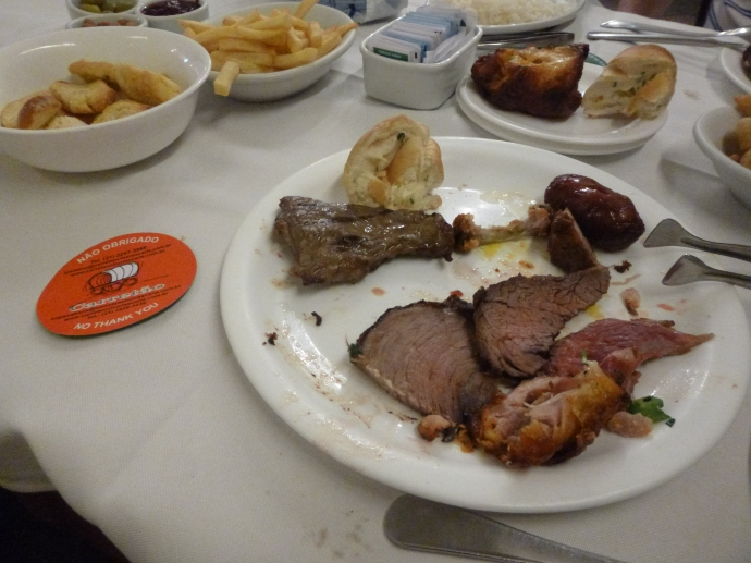 ARGH! I still have a lot of my plate but I ate too much already!