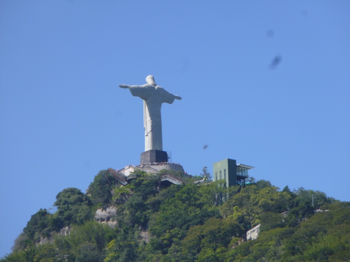 Jesus the Redeemer Statue From Below (Where The Long Line Was)