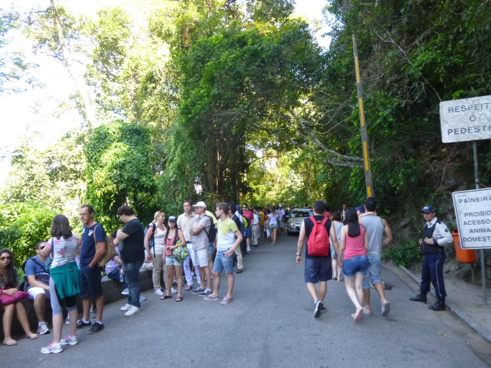 Unending Line To See Jesus the Redeemer Statue