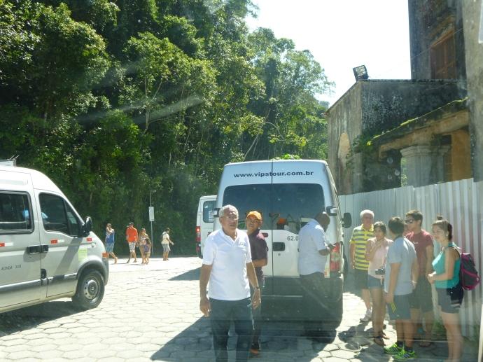 Mini Vans Waiting For Passengers