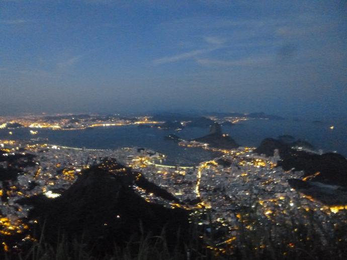 View of Rio de Janeiro From Jesus the Redeemer Statue