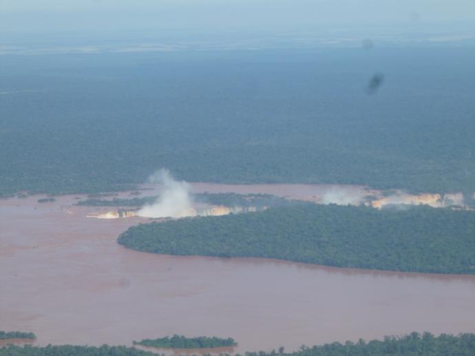 Iguassu Falls from The Plane