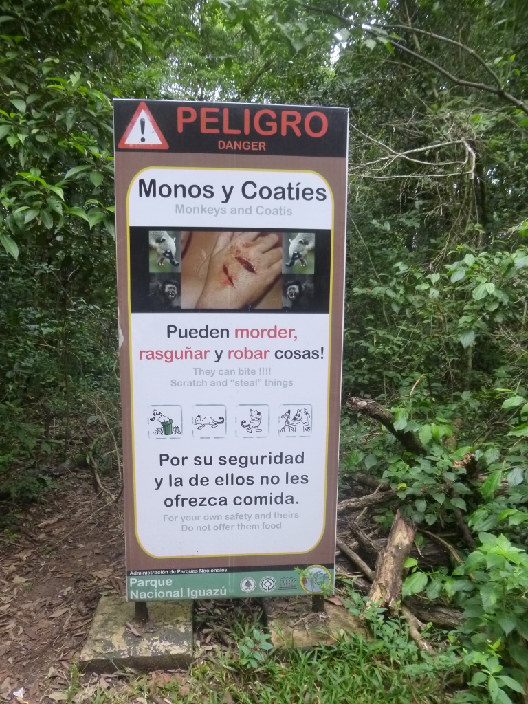 Warning Against Monkeys and Coatis