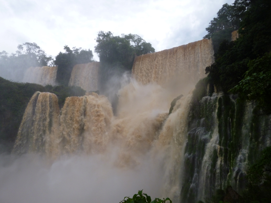 Many Smaller Falls Made Up The Iguassu Falls - Argentina