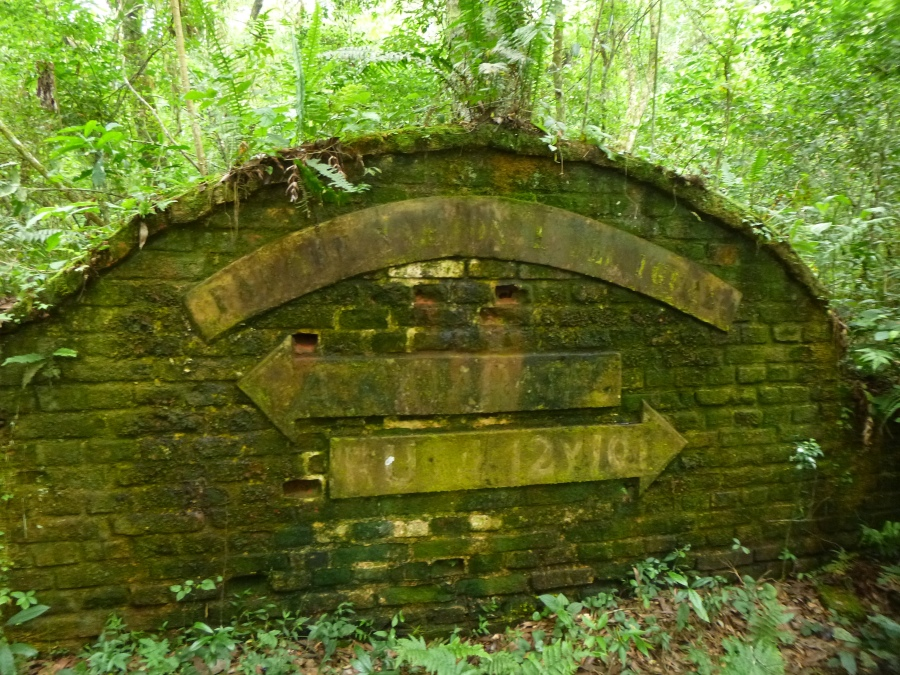 Iguassu Falls Park Sign From 1934