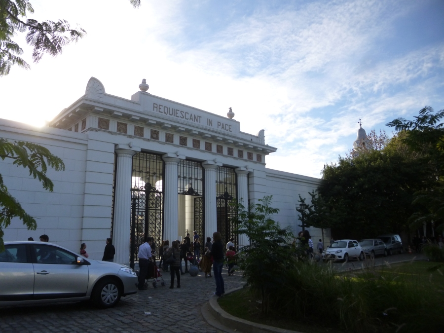 Recoleta Cemetery Where Evita Peron Is Buried (I did not go in again as I did so eight years ago)