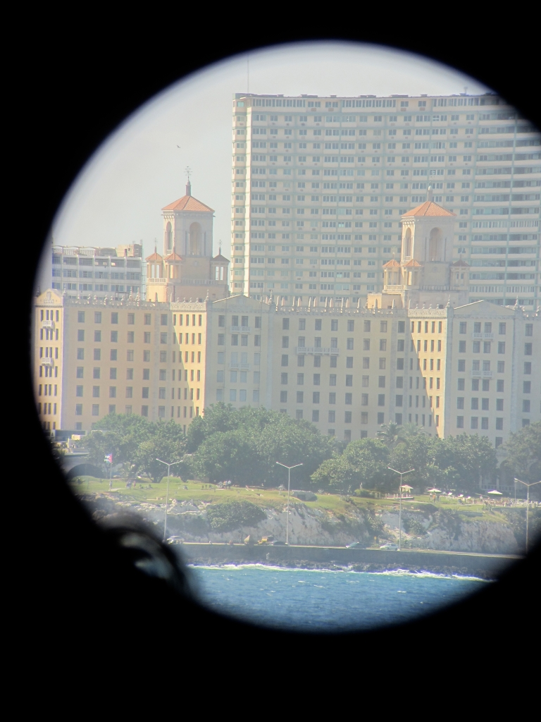 Iconic Hotel Nacional Seen From Morro Fort Telescope in Havana Bay