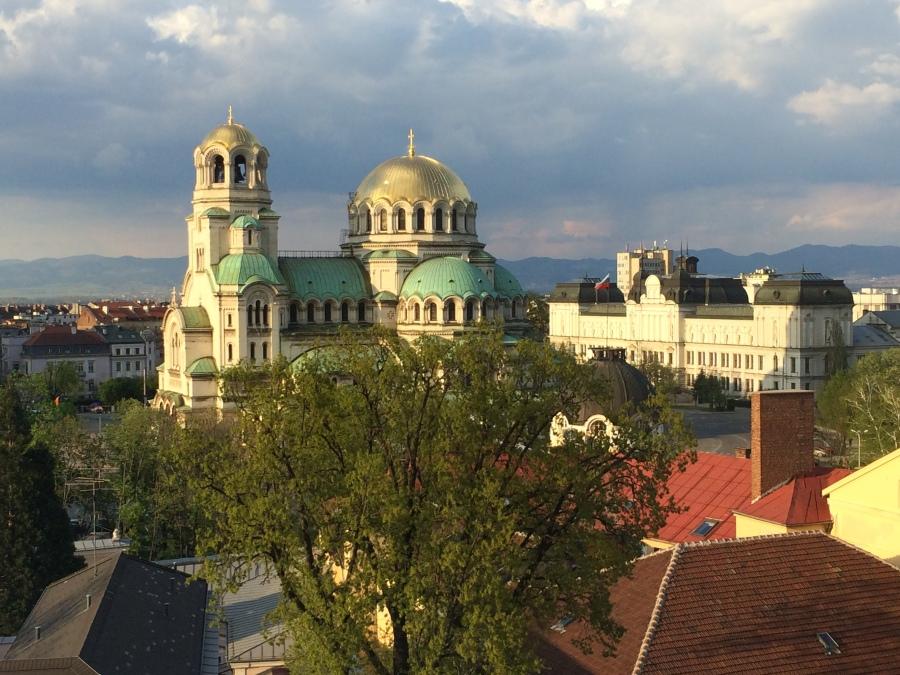 Alexander Nevsky church at sunset