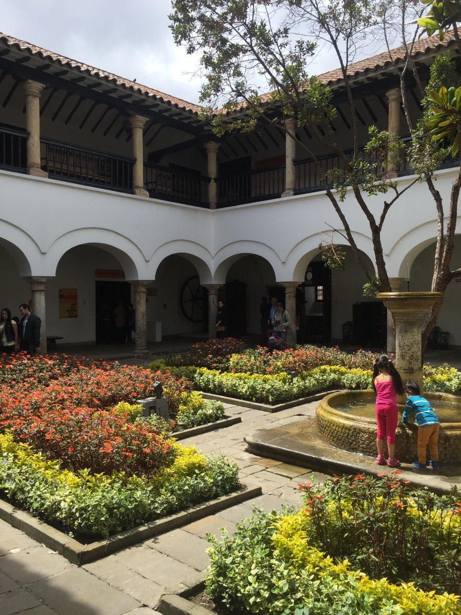 Beautiful Courtyard in The Mint Building - Part of Banrep's Manzana Cultural